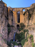 Spain, Andalucia, Ronda, Ronda Village and Ponte Nuovo Bridge Photographic Print by Michele Falzone
