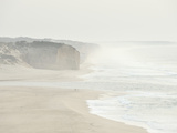 Foz Do Arelho Seashore in a Foggy Day. Portugal Photographic Print by Mauricio Abreu