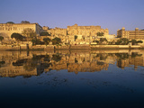 India, Rajasthan, Udaipur, Famous City Palace Complex and the Adjoining Fateh Prakash Palace Hotel  Photographic Print by Amar Grover