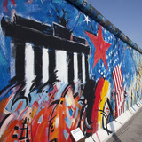 Eastside Gallery (Berlin Wall), Muhlenstrasse, Berlin, Germany Photographic Print by Jon Arnold