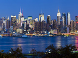 Manhattan, View of Midtown Manhattan across the Hudson River, New York, USA Photographic Print by Gavin Hellier