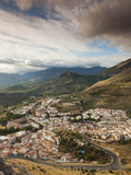 Spain, Andalucia Region, Jaen Province, Jaen, Elevated City View from the Cerro De Santa Catalina H Photographic Print by Walter Bibikow