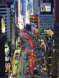 USA, New York, Manhattan, Midtown, Broadway Towards Times Square Photographie par Alan Copson