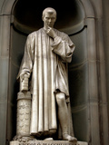 Italy, Florence, Western Europe, Statue of Niccolo Machiavelli Mostly known for Writing 'The Prince Photographic Print by Ken Scicluna