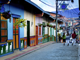 Guatape, Colombia, Outside of Medellin, Small Town known for its 'Zocalos' Panels of Three Dimensio Photographie par John Coletti