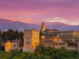 The Alhambra Palace at Sunset, Granada, Granada Province, Andalucia, Spain Fotografie-Druck von Doug Pearson