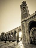 Morocco, Casablanca, Mosque of Hassan II Fotografie-Druck von Michele Falzone