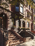 Brownstone Buildings in Harlem, Manhattan, New York City, USA Photographic Print by Jon Arnold