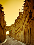 Avenue of the Knights (Ippoton Street), Rhodes Town, Rhodes, Greece Photographic Print by Doug Pearson