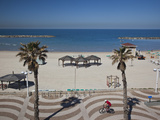 Israel, Tel Aviv Beach Walkway Photographic Print by Walter Bibikow