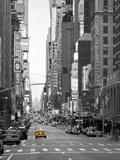 USA, New York, Manhattan, Midtown, 7th Avenue Fotografisk tryk af Alan Copson