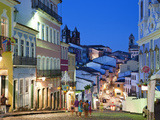 Historic Centre at Dusk, Pelourinho, Salvador, Bahia, Brazil Fotografie-Druck von Peter Adams