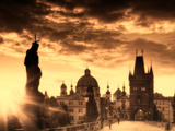 Czech Republic, Prague, Stare Mesto (Old Town), Charles Bridge Photographic Print by Michele Falzone
