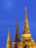 Thailand, Ayutthaya, Wat Phra Si Sanphet at Dusk Photographic Print by Shaun Egan