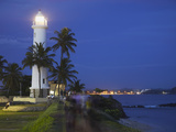 Lighthouse in the Fort at Dusk, Galle, Southern Province, Sri Lanka Photographic Print by Ian Trower