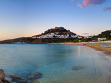 Lindos Acropolis and Village, Lindos, Rhodes, Greece Photographic Print by Doug Pearson