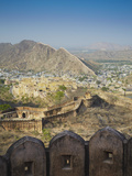 View of Amber Fort from Jaigarh, Jaipur, Rajasthan, India Photographic Print by Ian Trower