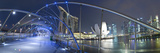 Marina Bay Sands Hotel and Helix Bridge, Singapore Photographic Print by Jon Arnold