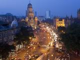 Victoria Terminus or Chhatrapati Shivaji Terminus (Cst), Mumbai (Bombay), India Photographic Print by Peter Adams