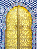Royal Palace Door, Fes, Morocco Fotodruck von Doug Pearson