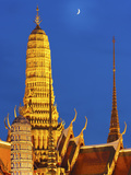 Thailand, Bangkok, Grand Palace, Wat Phra Kaeo at Night Photographic Print by Shaun Egan
