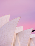 Australia, New South Wales, Sydney, Sydney Opera House, Close-Up of Opera House at Dawn Photographic Print by Shaun Egan