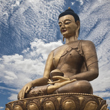 New 'Vajra Throne' Buddha Dordenma on a Hilltop Overlooking Thimphu, Chinese-Made 169-Foot-High Gol Photographic Print by Nigel Pavitt