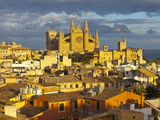 Cathedral La Seu and Old Town Rooftops, Palma De Mallorca, Mallorca, Balearic Islands, Spain Photographic Print by Doug Pearson