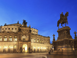 Germany, Saxony, Dresden, Old Town, Theaterplatz, Semperoper Opera House Photographic Print by Michele Falzone