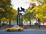 Duke Ellington Statue, Frawley Circle, Harlem, Manhattan, New York City, USA Photographic Print by Jon Arnold
