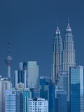 Petronas Towers and Kl Tower, Kuala Lumpur, Malaysia Photographic Print by Jon Arnold