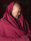 India, Ladakh, Likir, Senior Monk at Likir Monastery, Ladakh, India Photographic Print by Katie Garrod