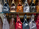 Italy, Florence, Tuscany, Western Europe, Leather Goods on Display Photographic Print by Ken Scicluna