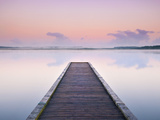Jetty on the Lake Azur, Les Landes, Franc Photographic Print by Nadia Isakova