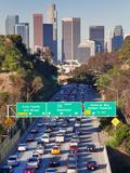 Gavin Hellier - Pasadena Freeway (CA Highway 110) Leading to Downtown Los Angeles, California, USA Fotografická reprodukce