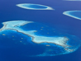 Maldives, Aerial View of Islands and Atolls Photographic Print by Michele Falzone
