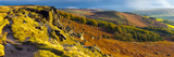 UK, England, Derbyshire, Peak District National Park, Stanage Edge Fotografisk trykk av Alan Copson