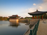 Korea, Gyeongsangbuk-Do, Gyeongju, Anapji Pond Photographic Print by Jane Sweeney