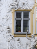Germany, Bavaria, Munich, Ornate Stucco or Plasterwork Adorning the Front of a House in the City Photographic Print by John Warburton-lee