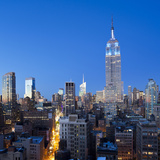 USA, New York, New York City, Manhattan, Midtown Manhattan, Elevated Dusk View Towards the Empire S Photographic Print by Gavin Hellier