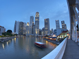 Central Business District, Boat Quay, Singapore Photographic Print by Jon Arnold