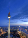 Germany, Berlin, Alexanderplatz, Tv Tower (Fernsehturm) Lmina fotogrfica por Michele Falzone