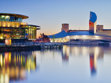 UK, England, Greater Manchester, Salford, Salford Quays, Imperial War Museum North with the Lowry's Photographic Print by Alan Copson