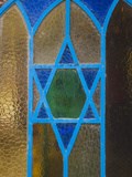 Israel, Upper Galilee, Tsfat, Synagogue Quarter, Star of David on Door Photographic Print by Walter Bibikow