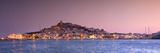 España, Islas Baleares, Ibiza, vista del casco antiguo de Ibiza (Patrimonio de la Humanidad) y Dalt Vila Lámina fotográfica por Michele Falzone