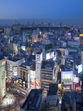 Asia, Japan, Tokyo, Shinjuku Skyline Viewed from Shibuya - Elevated Photographic Print by Gavin Hellier
