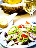 Greek Salad, Plaka District, Athens, Greece Photographic Print by Doug Pearson