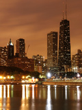 The Chicago Skyline Seen from the Navy Pier on a Rainy Day, USA Photographic Print by David Bank