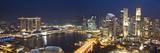 Central Business District and Marina Bay Sands Hotel, Singapore Fotodruck von Jon Arnold