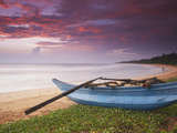 Bentota Beach at Sunset, Western Province, Sri Lanka Photographic Print by Ian Trower